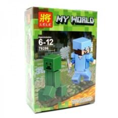 Конструктор Lele Minecraft Стив и крипер