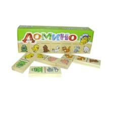 Настольная игра Домино: животные