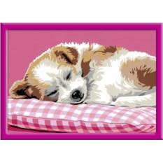 Раскраски по номерам Ravensburger Спящий щенок