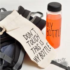 Пластиковая бутылка My bottle в мешочке