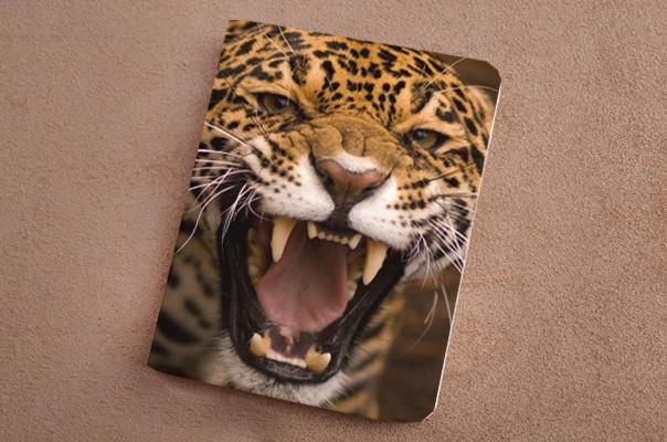 Горизонтальный кардхолдер Рычащий леопард