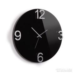 Настенные черные часы Еlapse
