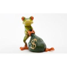 Фигурка Лягушка с мешком денег.