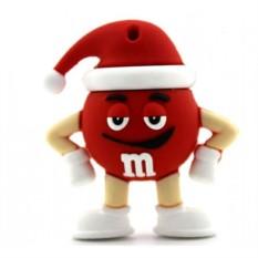 Флешка M&M`s в новогодний в колпаке