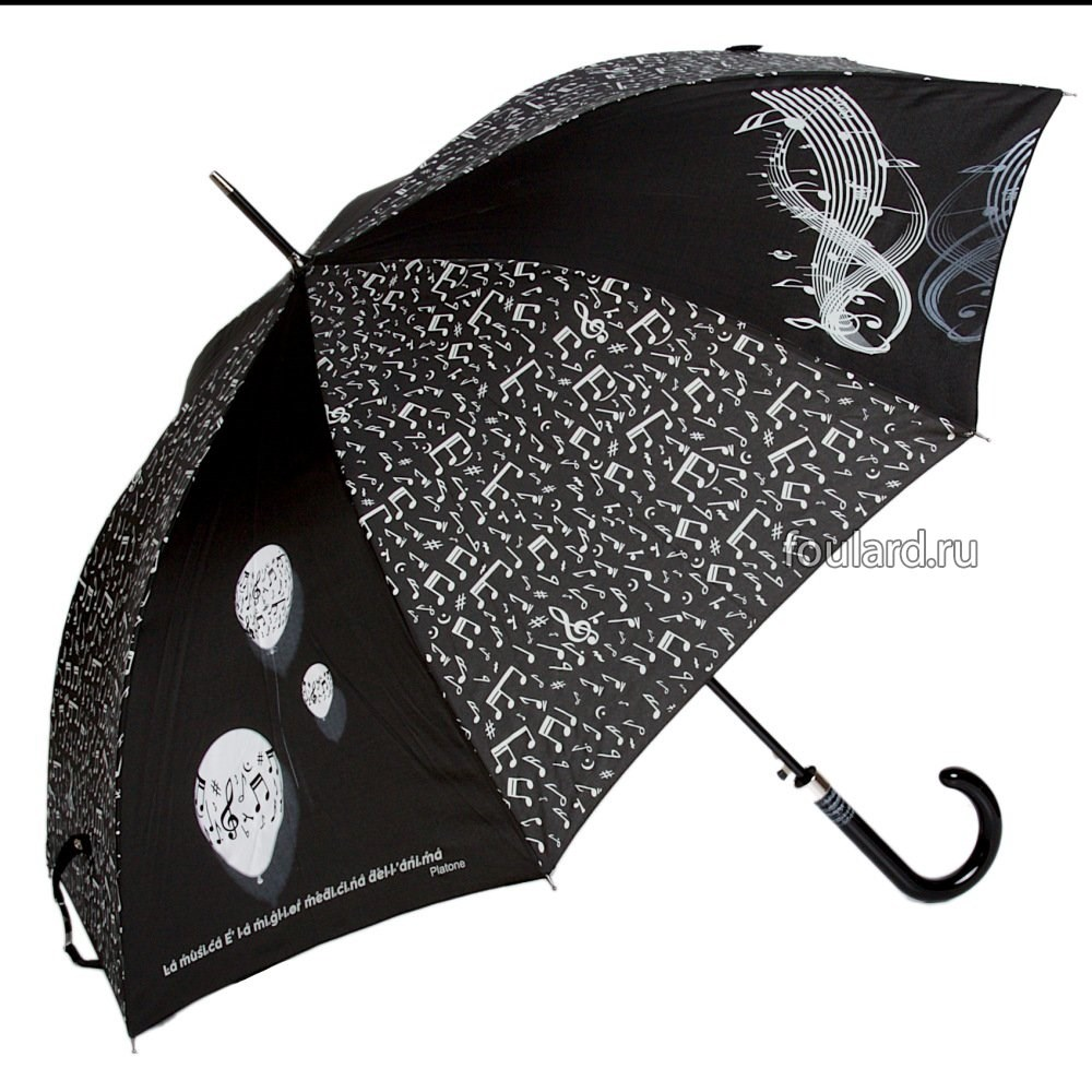 Женский зонт с черно-белыми принтами Emme LA Boll M Nero