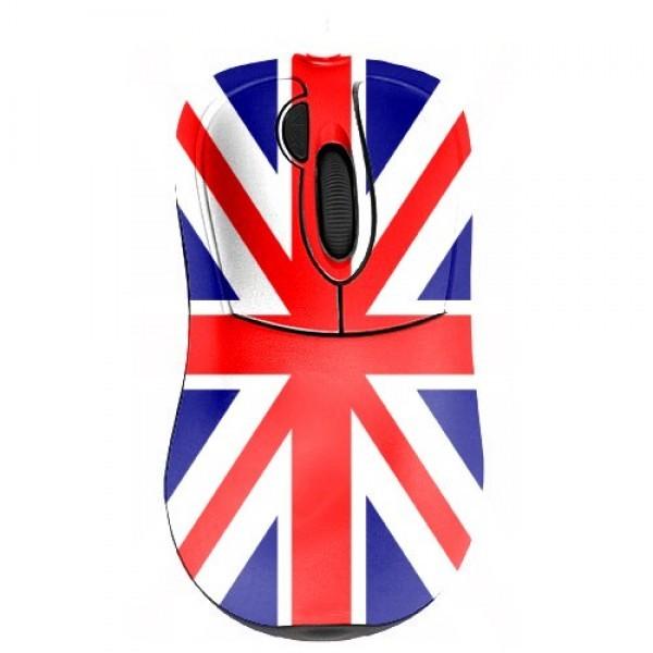 Прикольная мышь с дизайнерским принтом Флаг