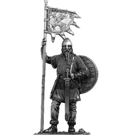 Оловянный солдатик Викинг со знаменем, 9-10 вв.