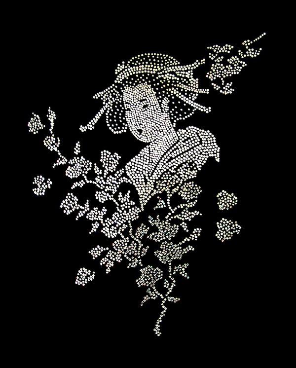 Картина с кристаллами Swarovski Японка