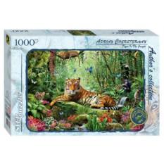 Пазл Тигр в джунглях