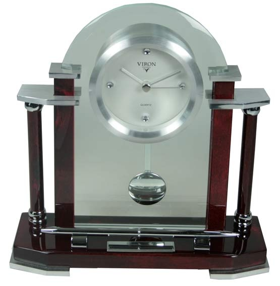 Настольный набор: часы с маятником , подставка под ручку