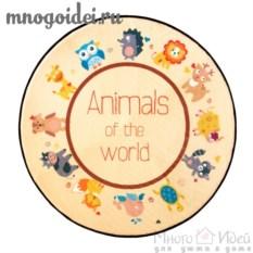 Антискользящий коврик Животный мир