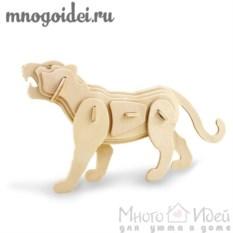 Деревянный конструктор 3D Тигр