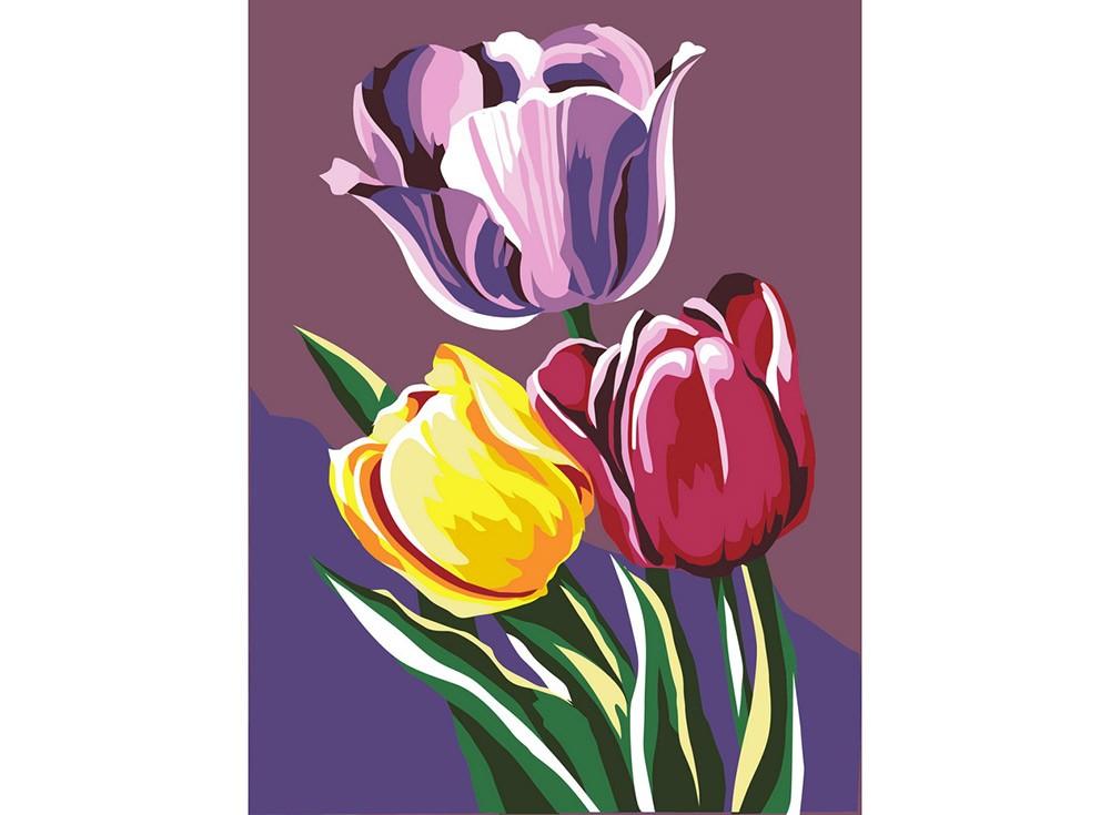 Картины по номерам «Тюльпаны»