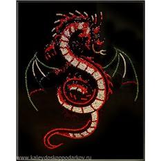 Картина с кристаллами Swarovski Крылатый дракон