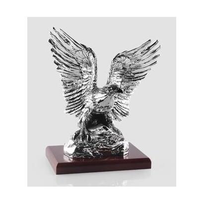Статуэтка Орёл на скале, посеребрение