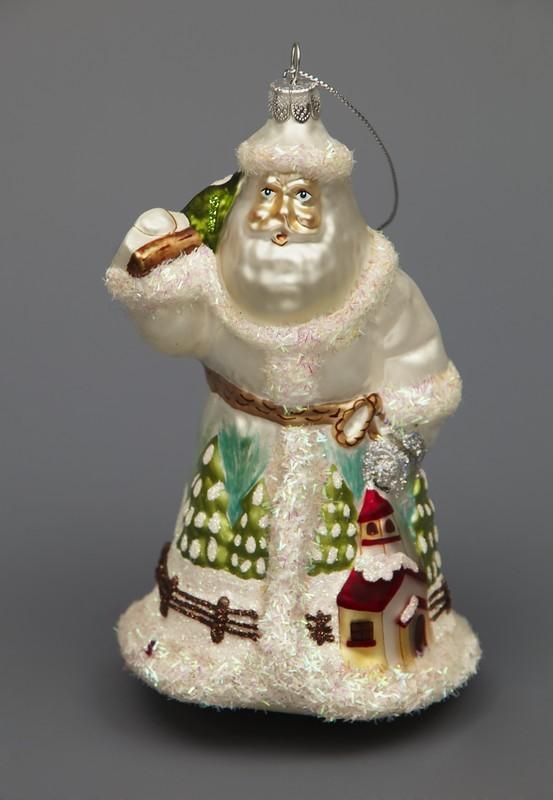Ёлочная игрушка Дед мороз с елкой
