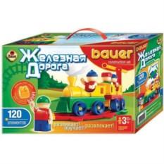 Конструктор Bauer серии Железная дорога (120 элементов)