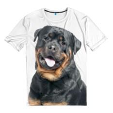 Мужская 3D-футболка Ротвейлер