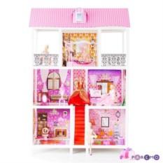 3-этажный кукольный дом с 5 комнатами