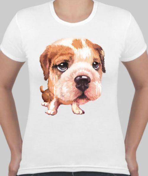 Женская футболка Морда собаки