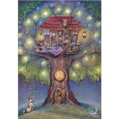 Открытка с конвертом Домик на дереве