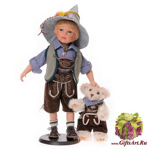 Немецкая фарфоровая Кукла-мальчик с мишкой RF-COLLECTION
