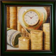 Картина с кристаллами Swarovski Время деньги 3