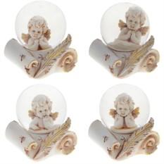 Декоративная фигурка в стеклянном шаре Ангел на свитке