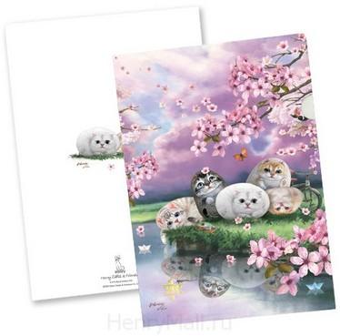 Папка-уголок «Цветы вишни»