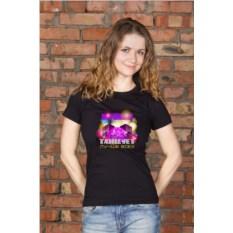 Черная женская именная футболка Королева вечеринки