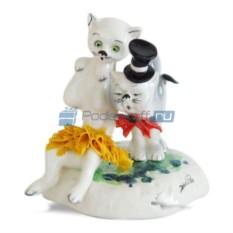 Фарфоровая статуэтка Кошки, пара от Zampiva