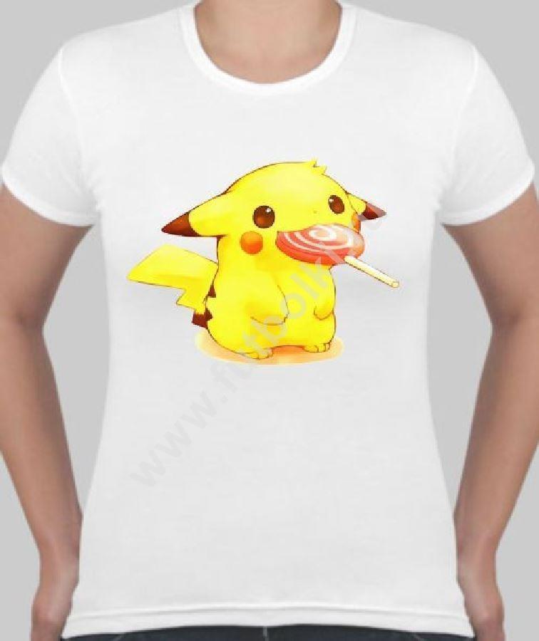 Женская футболка Пикачу с чупа чупс