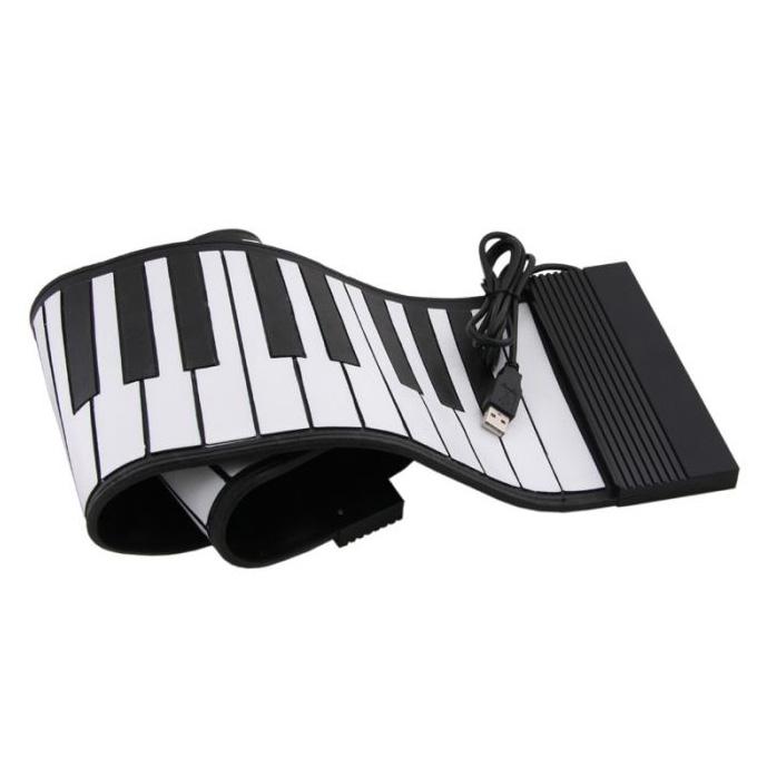 USB пианино, гибкое, Поиграл-свернул