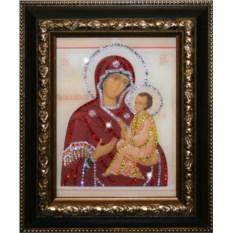 Икона Божией Матери Тихвенская со стразами Swarovski