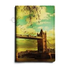 Кожаная обложка для автодокументов Tower Bridge