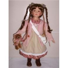 Фарфоровая кукла Глория, высота 66 см