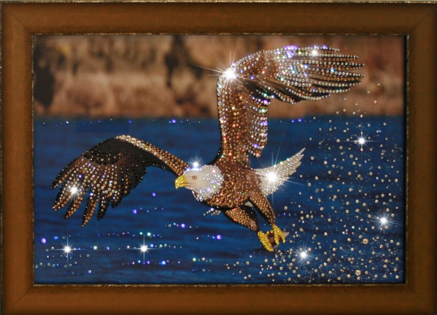 Картина с кристаллами Swarovski На охоте