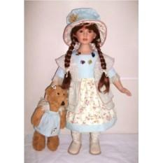 Фарфоровая кукла Мари, высота 66 см