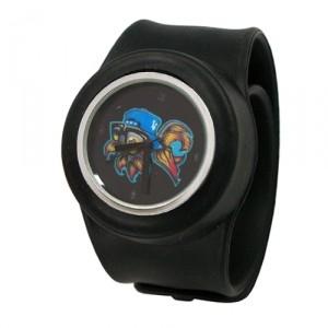 Слэп-часы Graffiti Fish (черные)
