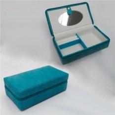 Бирюзовая шкатулка, размер 19х10,5х6,7 см