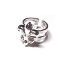 Фаланговое кольцо с флер де лис Лилия (серебро)