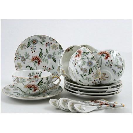 Чайный набор на 6 персон «Цветы»