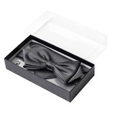 Набор (галстук с платком темно-стального цвета)