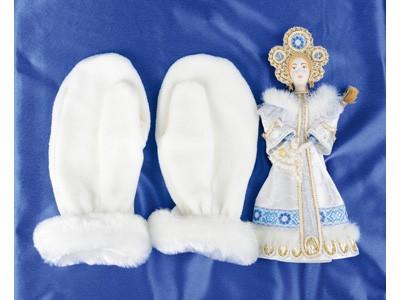 Подарочный набор: кукла-снегурочка, варежки «Новогоднее настроение»