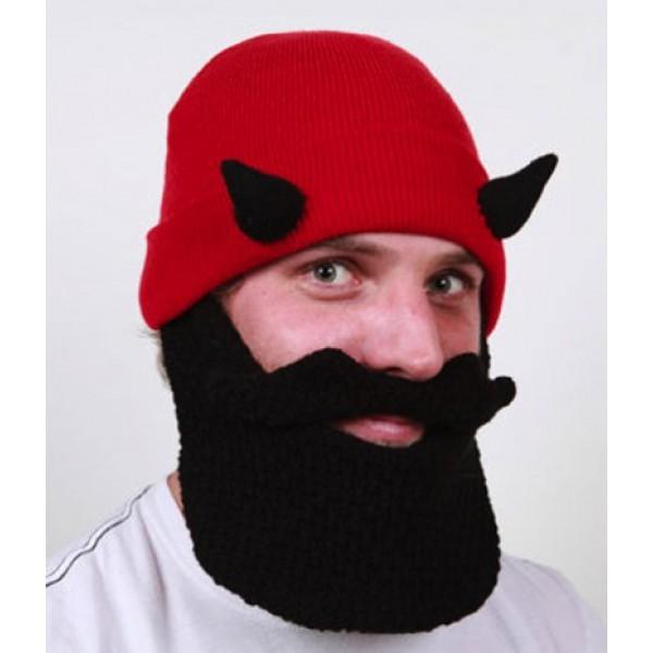 Шапка с бородой Devil Beard