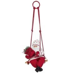 Новогоднее украшение Дед Мороз на качелях