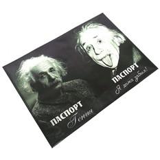 Обложка из натуральной кожи Эйнштейн