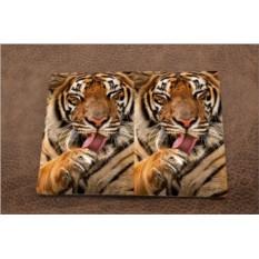 Кожаная обложка для паспорта Довольный тигр