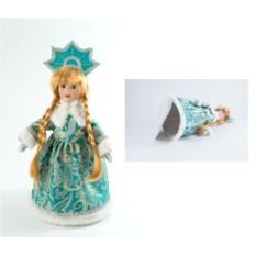 Интерьерная декоративная кукла Снегурочка (35 см)