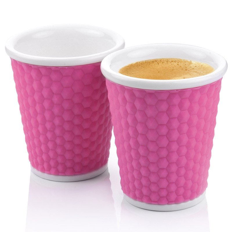 Набор чашек Honeycomb 180 мл, розовый